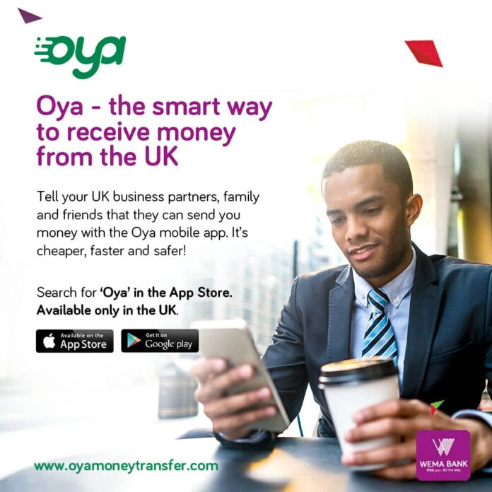 WEMA BANK PARTNERS UK'S VOLOPA TO LAUNCH 'OYA' MOBILE REMITTANCE SERVICE